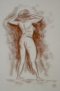 sepia life drawing 07