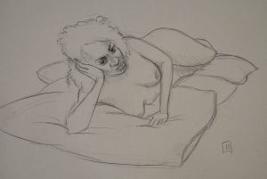 sepia life drawing 05