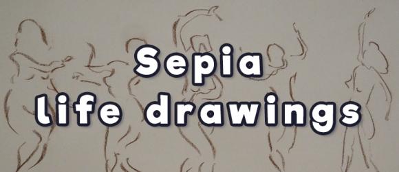 sepia life drawings