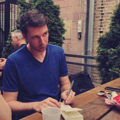 Adam sketching in Chicago